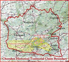 Cherokee historical Territorial Claim Boundry